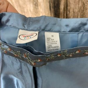 Talbots Matching Sets - Talbots Kids 100% Silk Suit w/ Embroidered Flowers